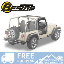 Bestop Soft Fabric Upper Doors 88-95 Jeep Wrangler YJ Black Denim 51782-15