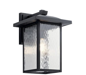 Capanna 16 in. 1-Light Textured Black Outdoor Wall Mount Sconce by KICHLER