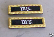 2nd Lt Shoulder Boards, Medical,  Civil War, New