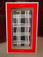 COACH iPhone 5 Case in Painted Plaid- Silicone - Black/White - 68961B