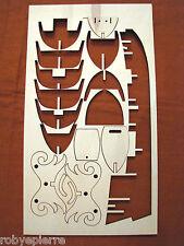 7 Ricambi Nave da montare Giunca Pirata Cinese Amati 1421 ordinate della chiglia