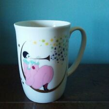 Mug Teal Female Clown on Gold Moon with Stars Horn Harlequin Coffee Tea Coco Cup