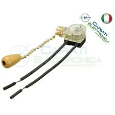 Interruttore a TIRANTE SPST ON-OFF 3A 250V commutatore a corda catena 30cm