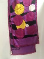 "Vintage Sally Gee 100% Silk  Scarf Japan 14"" x 70"""