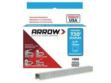 Arrow T50 Staples Box 1000 - Stainless Steel 3/8in
