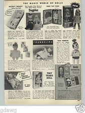 1966 PAPER AD Mattel Doll Drowsy Tiny Pebbles Flintstone Heidi Pocketbook