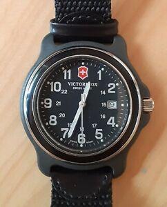 Victorinox Swiss Army Men's 249087 Original XL Swiss Quartz Black Watch - VGC