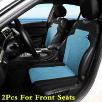 2Pcs Black/Blue Front Vest Car Seat Covers Protectors For Car SUV Front 2 Seats