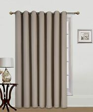 "1 TAUPE PATIO DOOR 14 GROMMETS WINDOW PANEL CURTAIN THERMAL BLACKOUT 100"" WIDE"