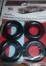 6064F NASCAR 1/25 60-64 FIRESTONE CUP TREAD TIRES SET STOCK CAR MODEL PPP