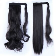 Wrap Around Ponytail Clip In on Hair Extensions real natural Long Pony tail T4i