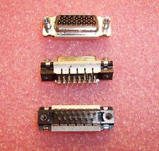 Qty (5) 748440-2 Amp 15 Position Signal D-Sub Receptacles Hdp-20