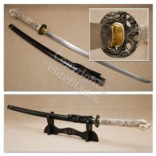 Hand Forged Functional Highlander Katana Sword By Musashi Sharp Blade +Stand