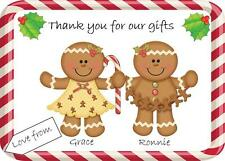 Gingerbread Themed Christmas Thank You Cards Personalised Postcard style