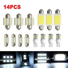 14pcs Car Interior COB LED Lights Package Kit T10 &31mm 42mm Bulbs Reading Lamps