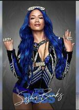 SASHA BANKS Poster Print WCW WWE Wrestlemania Smackdown Size Options A