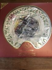 Lenox 2010 Annual Holiday Christmas Collector Plate Holiday Skaters