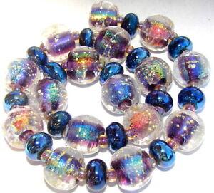 """Sistersbeads """"N-Dark Star"""" Handmade Lampwork Beads"""