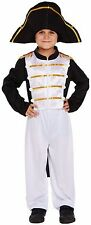 Kids Boys Officer Napoleon Book Day Fancy Dress Costume Outfit 4-12 years