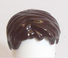 Lego Short Boy Wig Hair x 1 Dark Brown for Minifigure