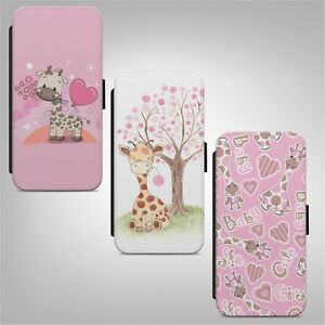 Cute Baby Giraffe Pattern FLIP WALLET PHONE CASE COVER FOR IPHONE SAMSUNG HUAWEI