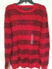 INC  International Concepts Mens Large Red Black Artist Sweater NWT