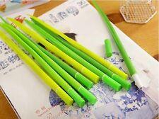 1pc Cute Grass Design Roller Ball Pen Black Ink Office Dec. Student Stationery