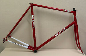 DE ROSA PROFESSIONAL FRAME AND FORK COLUMBUS TUBING LARGE CAMPAGNOLO DROPOUTS
