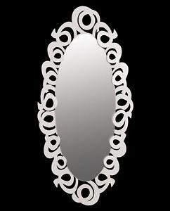 Arti e Mestieri Specchio Nastri ovale colore  bianco