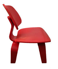 Classic Retro Modern Red Moulded Plywood Dining Chair Eames DCW Replica 2Pc