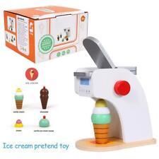 Ice Cream Machine Pretend Toy Wooden Simulation Ice Cream Machine Toys Set