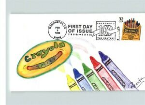 CRAYOLA CRAYONS, Hand Painted Crayons, Celebrate the Century 1900s First Day of