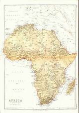 1878 Color Map of AFRICA Before European Colonization - Great Detail