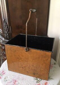Vintage Metal Artistic Rectangular Carriers - from Priscilla Presley estate sale