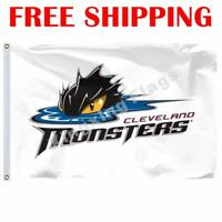 Cleveland Monsters Logo Flag AHL American Hockey League 2019 Banner 3X5 ft