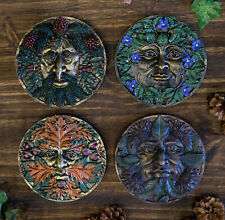 Four Seasons Spring Summer Fall Winter Celtic Greenman Wall Decor Plaques Set