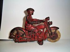 VINTAGE HUBLEY CAST IRON HARLEY DAVIDSON CIVILIAN MOTORCYCLE TOY