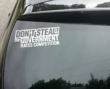 LARGE Don't Steal Funny Car/Window JDM VW EURO Vinyl Decal Sticker