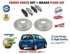 pour Renault Twingo 1.2 1.5 DCI 2007-2014 ENSEMBLE DISQUES DE FREIN AVANT +