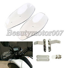 Clear Motorcycle Hand Guard Cold Wind Deflector Shield For Harley Touring Honda