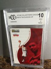 TIM DUNCAN 1997-98 COLLECTORS CHOICE ROOKIE CARD#379 BCCG MT 10