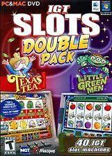 IGT Slots Double Pack Little Green Man Texas TEA PC (Windows/Mac, 2012) NEW