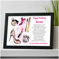 PERSONALISED 16th 18th 21st Birthday Gifts for Her Daughter Sister Friends Girls