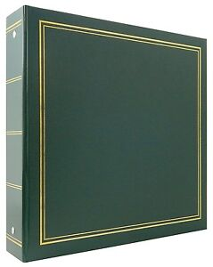 MBI 400 Pocket 3-Ring 4x6 Library Collection Photo Album Green
