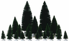 Lemax Decoration Assorted Fir Trees Set of 21,Birthday Christmas Cake Decorating