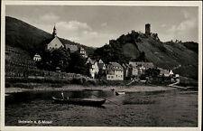 Beilstein Rheinland-Pfalz ~1940 Mosel Boote Schiffe Burg Festung Fachwerkhäuser