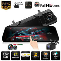 "Car DVR Camera 10"" Rear View Mirror FHD 1080P Dash Cam Registrar Video Recorder"