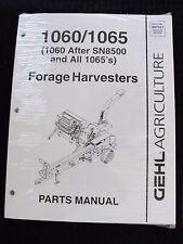 Genuine Gehl 1060 & 1065 Forage Harvester Parts Catalog Manual Mint Sealed