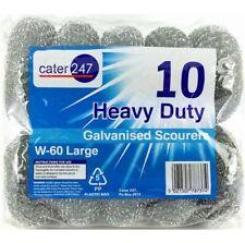 Pack of 10 Heavy Duty Galvanised Metal Scourers Cleaner W-40 Medium