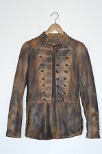 *STUNNING* AllSaints Ladies leather Brocade Military Tail Coat/Jacket UK8 US4
